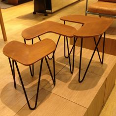 Tables Gigones, Édition Tubauto, 1953 Nesting Tables, Stool, Dining Chairs, Gauche, Furniture, Home Decor, Decoration Home, Room Decor, Dining Chair