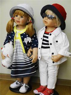 Наряды в морском стиле или свистать всех наверх / Наши коллекции кукол / Бэйбики. Куклы фото. Одежда для кукол
