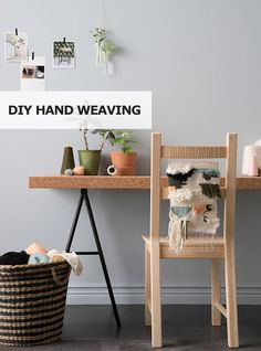Get inspired to create! Make your own DIY hand weaving - a cute decoration for your home or perfect for a last minute gift!