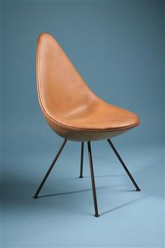 Chair, The Drop Chair. Designed by Arne Jacobsen for Fritz Hansen