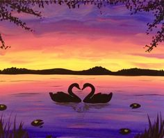 Paint Nite - Lake of Love II