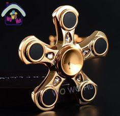 Gold metal fidget spinner $15