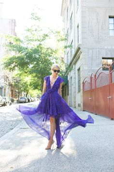 blue lace up maxi dress