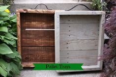 DIY Pallet Projects | DIY Trays In A Rustic Chic Style | Rustic Crafts & Chic Decor