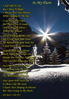 In My Heart. Sad Grief Poem - Picture Poems