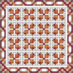 Pieced Tulips Quilt Pattern on Quilters Cache. Squares and HSTs.