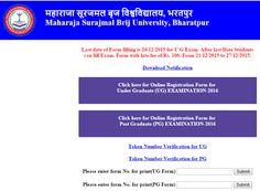 Brij University BSC 1st Year Name Wise Admit Card 2016 MSBU Bharatpur Has Uploaded Bachelor