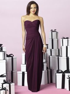After Six Bridesmaid Dress-Bordeaux Style 6641