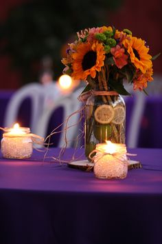 Backyard Party Decor. Purple and Yellow accents  www.rachelreadphotography.com