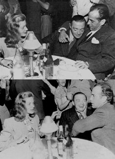 Fun in Hollywood, 1940s: Lauren Bacall, Peter Lorre, Humphrey Bogart