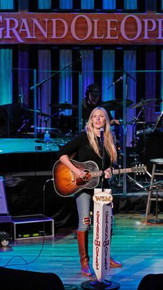 Holly Williams, granddaughter of Hank Williams Sr., performs at the Grand Ole Opry at Ryman Auditorium in November 2014.