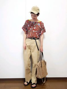 archivesのトップスとベルトがおニューです😁🎵 同系色でまとめました🙌⤴ 秋カラーを意識 Summer, How To Wear, Pants, Vintage, Style, Fashion, Trouser Pants, Swag, Moda