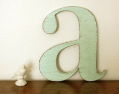 For Elle's 'big girl' room I want to have a little eclectic collection of various letter E's.
