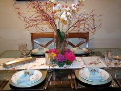 summer table setting, table decor, Jewish Holiday,