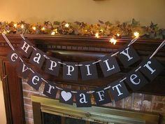 Wedding Banner Happily Ever After Sign by inspirationalbanners, $24.00