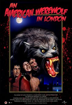 """It's a rainy night on the Welsh moors. Two American students on a walking tour of Europe trudge on to the next town, when suddenly the air is pierced by an unearthly howl ... Three weeks later, one is dead and the other is in the hospital."" Find AN AMERICAN WEREWOLF IN LONDON in our catalog: http://highlandpark.bibliocommons.com/item/show/1689776035_an_american_werewolf_in_london"