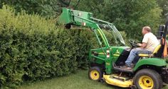Someone Get This Guy An Award! Canadian Dad Finds Best Way To Trim Hedges.