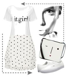 """""""Untitled #3394"""" by julinka111 ❤ liked on Polyvore featuring River Island, Lulu Guinness and Vans"""