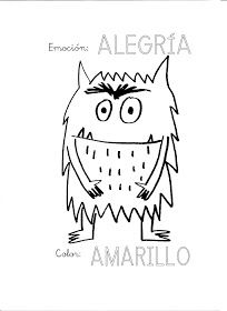 Coloring Page 2018 for Monstruo Colorear, you can see Monstruo Colorear and more pictures for Coloring Page 2018 at Children Coloring. Emotions Preschool, Preschool Art, Preschool Activities, Monster Activities, Book Activities, Art Books For Kids, Art For Kids, Spanish Colors, Monster Book Of Monsters
