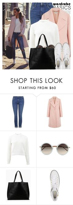 """2209. Blogger Style: Kenzas"" by chocolatepumma ❤ liked on Polyvore featuring Oris, Topshop, Hobbs, T By Alexander Wang, Linda Farrow, Azalea and Converse"