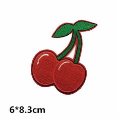cherry patch Fruit patches Cherry Pineapple cute patch lovely patch cute Embroidery iron on sew on patch sew on patch iron on cute Embroidery Parachute Tree Pineapple Cherry Sunflower banana watermelon Fruit patches school bag clothing Cute Patches, Sew On Patches, Iron On Patches, Wholesale Promotional Products, Cute Embroidery, Letters And Numbers, Etsy Seller, Unique Jewelry, Diy Crafts