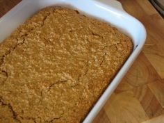 Baked Peanut Butter Oatmeal, one of our favorite breakfasts. Her baked pumpkin oatmeal is fabulous too!