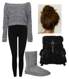 """""""Black n' Grey for a Comfy Day"""" by alysiana on Polyvore"""