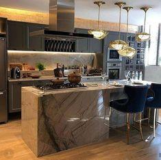Best Asian Kitchen Design Ideas - Kitchen - Info Virals - New Fashion and Home Design around the World Cabinets And Countertops, Asian Kitchen, Kitchen Trends, Kitchen Ideas, Home And Deco, Common Area, Wooden Flooring, Built Ins, Decoration