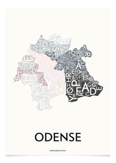 ODENSE - SPECIAL EDITION - 40x55 CM | Kortkartellet