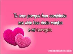 Imágenes Bonitas para Facebook Amor y Amistad: Corazones con mensajes de amor