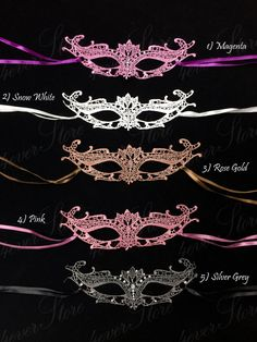 Sweet 16 Party Masquerade Masks for Quinceanera by 4everstore, $22.95