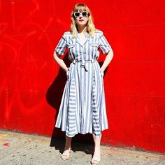 31 Perfect Looks To Copy This May #refinery29  http://www.refinery29.com/2016/05/109647/new-outfit-ideas-may-2016#slide-13  Few pieces are as throw-on-and-go as a shirtdress. If you don't have one in your collection, now's the time to invest....