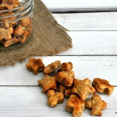 Peanut Butter Dog Biscuits with six simple ingredients!