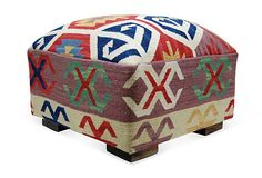 cool pattern. Kilim Ottoman