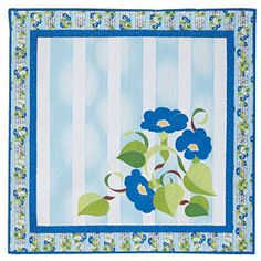 Morning Glory Applique Quilt Pattern Download from ConnectingThreads.com Quilting    by Jody Houghton