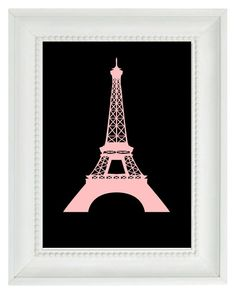 Eiffel Tower Paris France Art Print   French by RizzleandRugee, $15.00