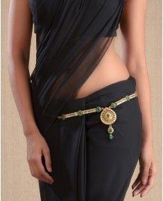 Sari belt..cool way to make a simple sari more exciting!