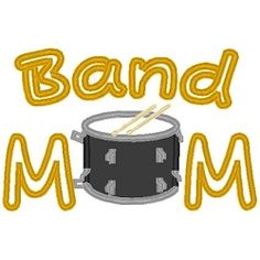 Band Mom Applique - 3 Sizes! | Music | Machine Embroidery Designs | SWAKembroidery.com Band to Bow
