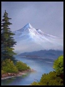 bob ross painting - the kind of the ''awe and shock'' type of painting - so magestic and so beautiful - web - MReno