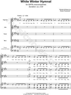 Print and download choral sheet music for Hallelujah by Pentatonix ...