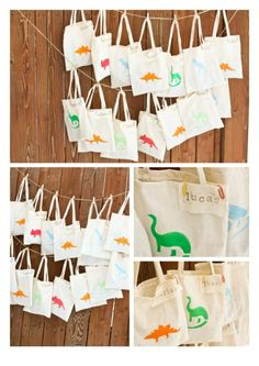 Rawr Dinosaur Birthday Party bags