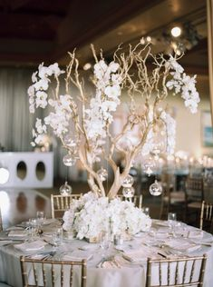 California Wedding Blooming with White Orchids - MODwedding