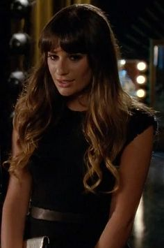 Rachel Berry's black tweed peplum top on Glee season 4.  Outfit Details: http://wornontv.net/6586/