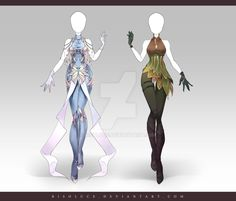 (OPEN) Adoptable Outfit Auction 164-165 by Risoluce on DeviantArt