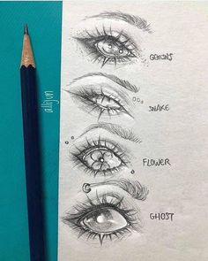 I'll be sharing 12 inspiring ideas for drawing human eyes and even a few animated style eyes. Learn how to draw eyes with these tutorials. #howtodraw
