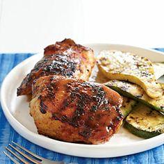 15 Grilled Chicken Menus | Barbecue Chicken with Mustard Glaze Menu | MyRecipes.com