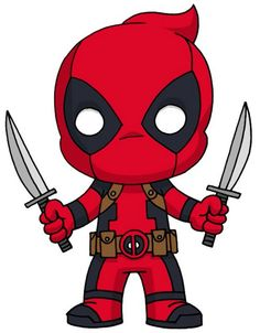 Cute Deadpool, Deadpool Art, Deadpool Kawaii, Deadpool Chibi, Deadpool Wallpaper, Marvel Wallpaper, Marvel Drawings, Cartoon Drawings, Cute Drawings