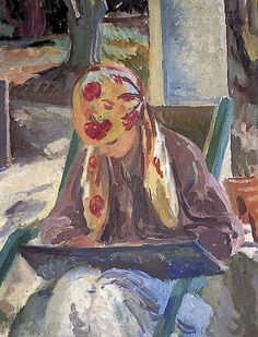 A Girl Reading (c.1932). Vanessa Bell (English, 1879-1961). Oil on canvas. Charleston. Bell was a painter and interior designer who established her reputation as part of the avant-garde Bloomsbury...