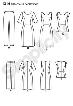 Simplicity 1314 Misses' Dress & Sportswear