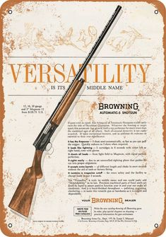 1963 Print Ad of Browning Automatic 5 Shotgun versatility is its middle name